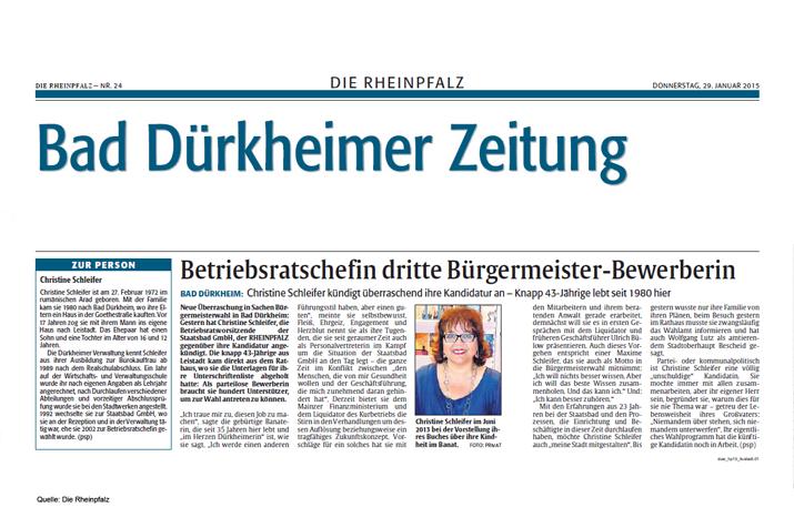 Bürgermeisterkandidatin Christine Schleifer