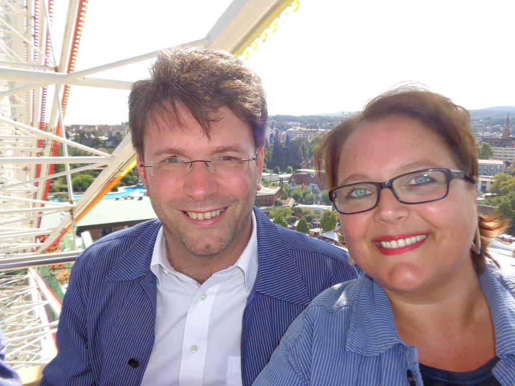 Hoch hinauf mit Bürgermeister Christoph Glogger